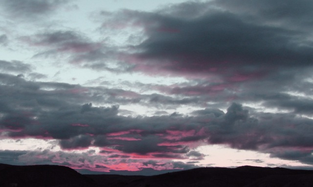 Pink and gray sunrise
