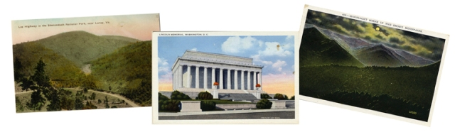 photo of postcards sent 1934