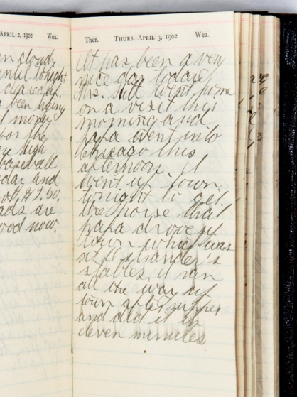 Diary page for April 3, 1902