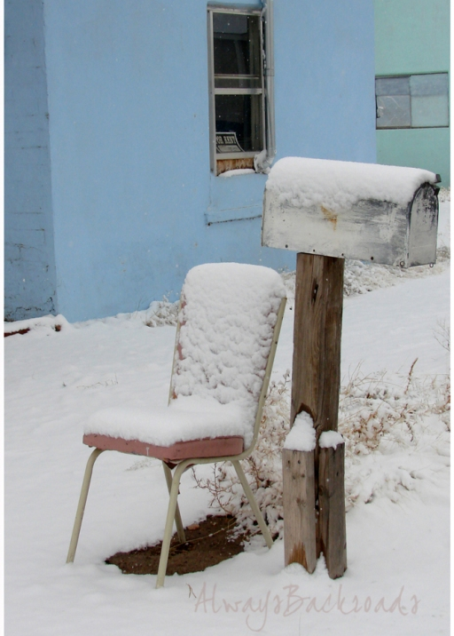 snow chair mailbox a