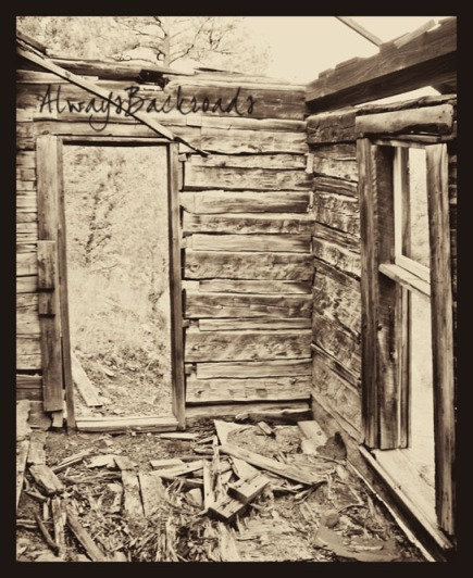 cabin door sepia