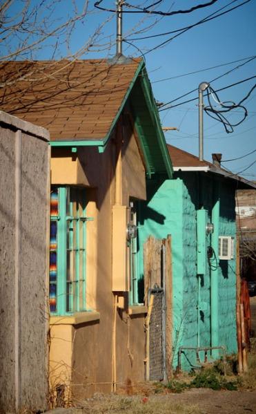 green yellow houses