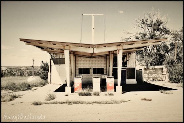 blue door gas station