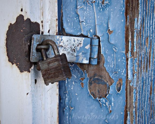 blue door lock 1