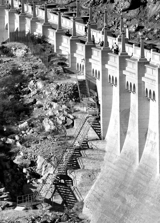 dam stairs
