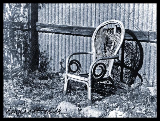blue chair shadow