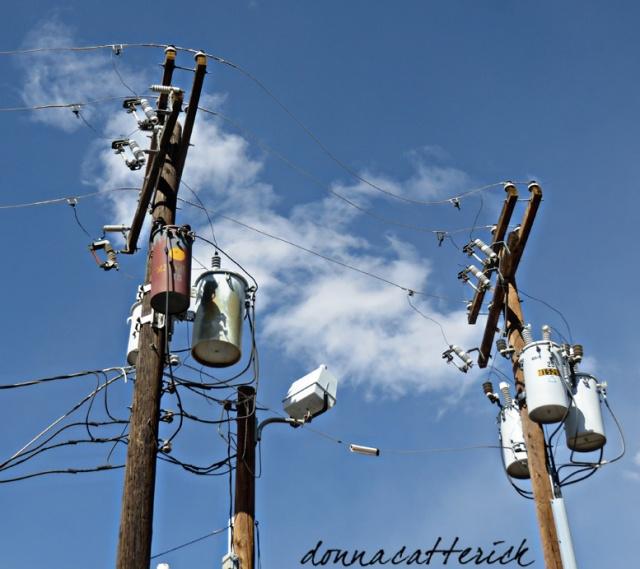 poles wires