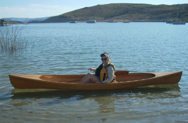 eve in canoe 1