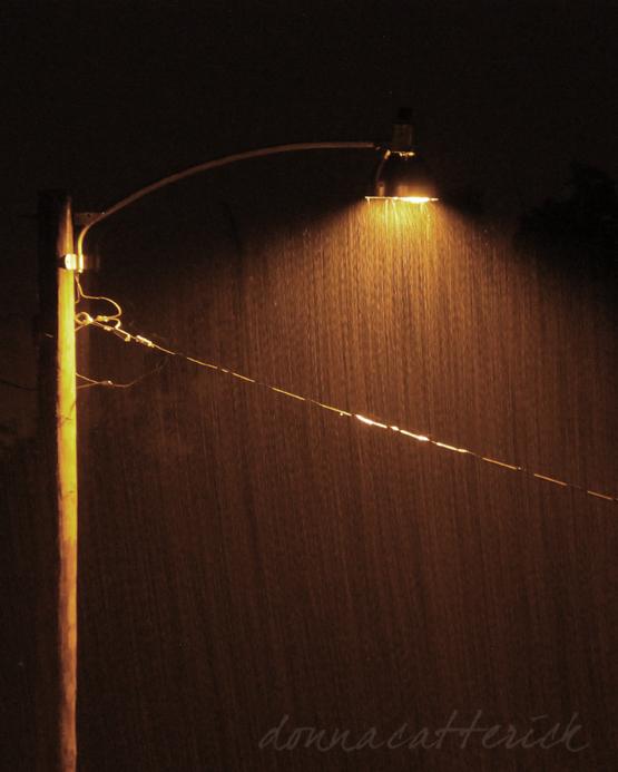 street light rain
