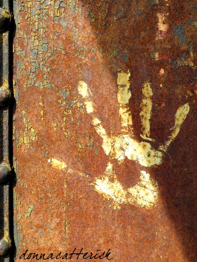 rusty handprint