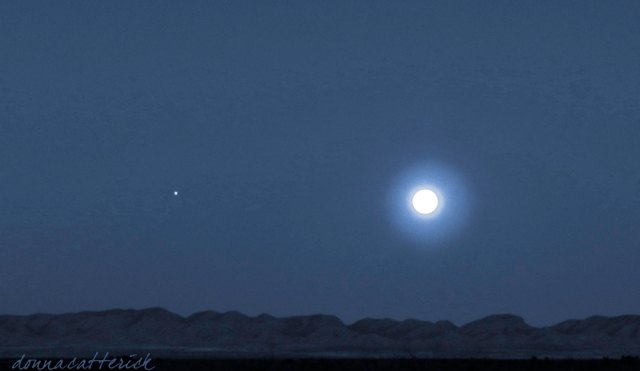 moon rise and jupiter