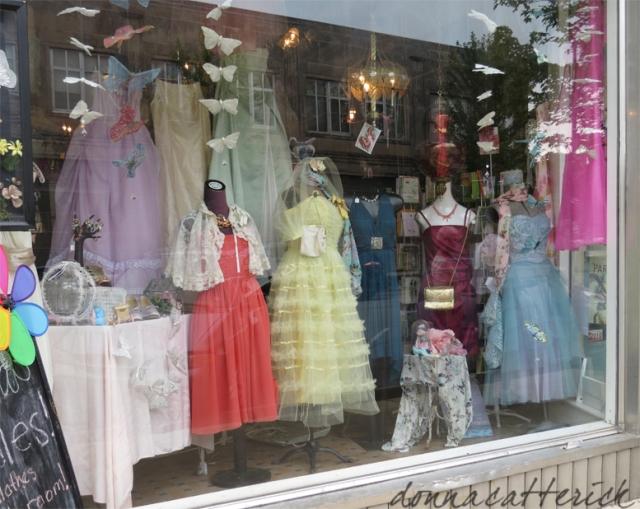 dress shop window