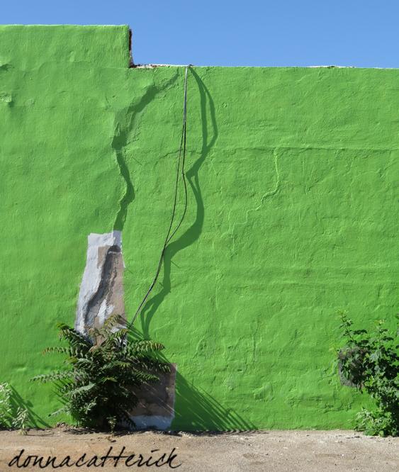 green wall shadow