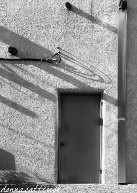 shadow on door