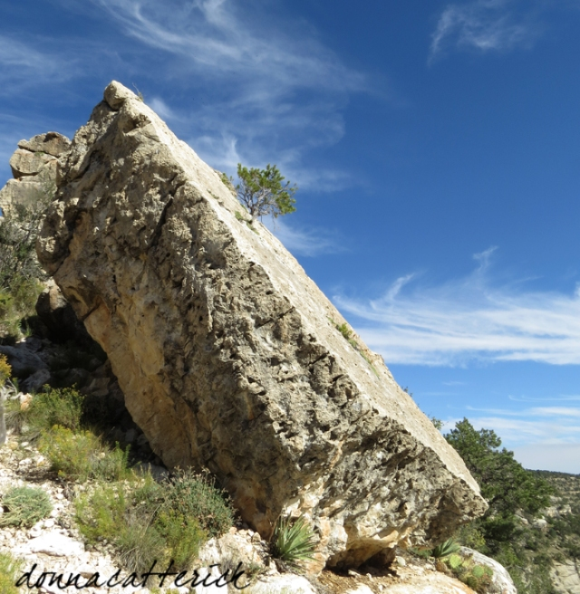 slanted rock