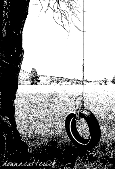 tire swing bw